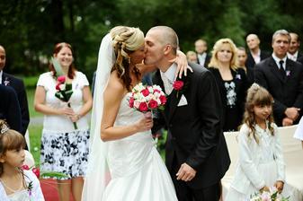 Svatební hostina  v Hotelu Svornost - Obřad zámecký park