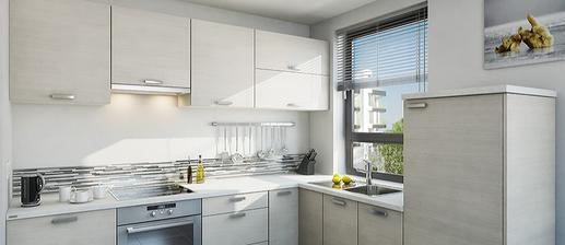 Toto je moje vysněná kuchyně. Ten dekor je naprosto úžasný, světlý s jemnými pásky šedé a hnědé.