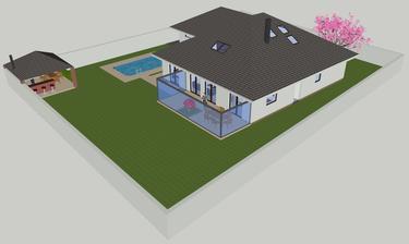 Za domom - Sketchup