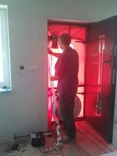 Blower door test,spolupráca s Palom Hoštákom uplne super