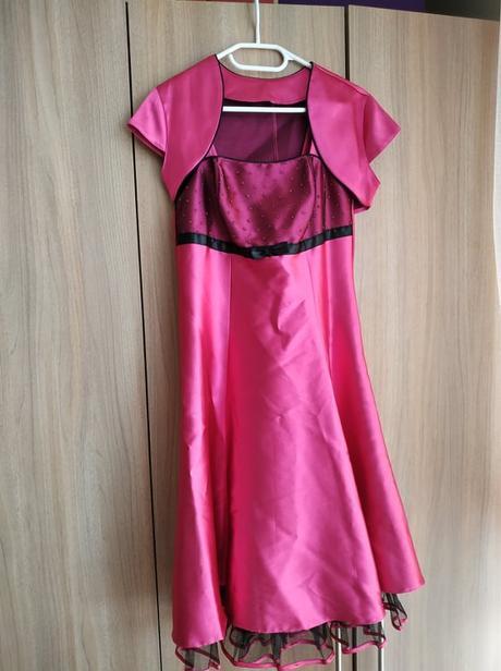 Krásné fuchsiové šaty - Obrázek č. 1