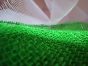 zelená juta na dekorácie