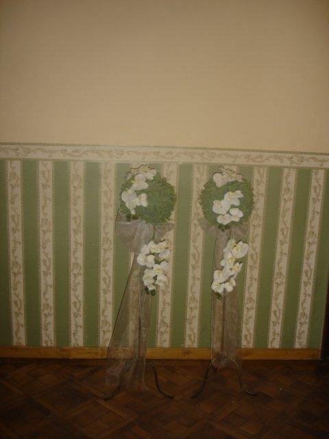 Detaily našej svadby - výzdoba ku vchodu do miestnosti