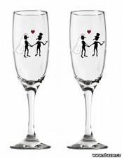 vybrané skleničky pro náš novomanželský přípitek ...