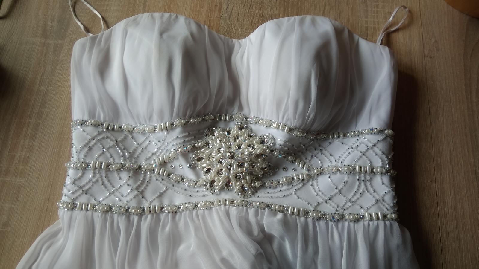 Svatební šaty se závojem zn. Oksana Mukha vel36-38 - Obrázek č. 1