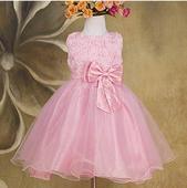 Společenské dětské šaty růžové, 80
