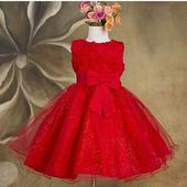 Společenské dětské šaty červené, 80