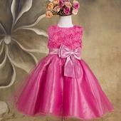 Společenské dětské šaty malinové, 92