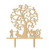 Svatební ozdoba na dort Mr&Mrs 3,