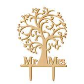 Svatební ozdoba na dort MR&MRS 2,