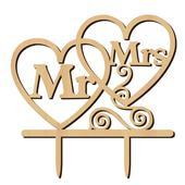 Svatební ozdoba na dort Mr&Mrs,