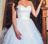 Nádherné svadobné šaty PRONOVIAS + závoj, 34