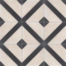 Dekor INDIGO na ručně vyráběné cementové dlažbě a obkladu - 0101