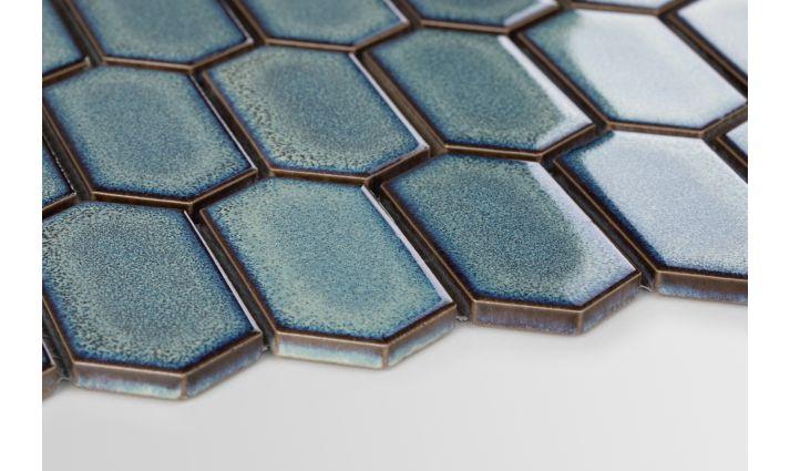 Novinky v keramických mozaikách. - hexagonum modrozelená adriatic