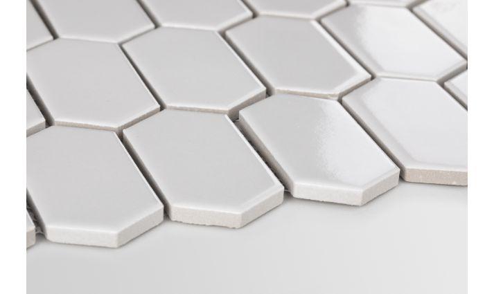 Novinky v keramických mozaikách. - hexagonum šedá světlá