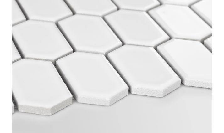 Novinky v keramických mozaikách. - hexagonum bílá