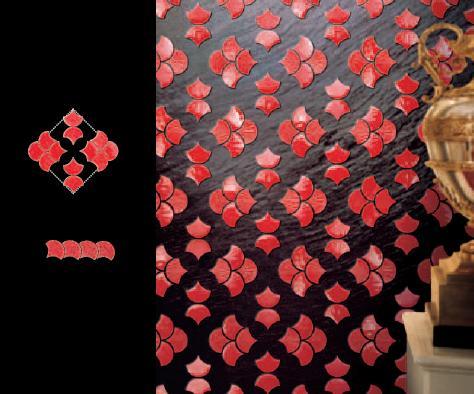 Představujeme plastickou jasně červenou skleněnou mozaiku tvaru mušle - Obrázok č. 4