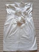 Biele volánkové šaty, L