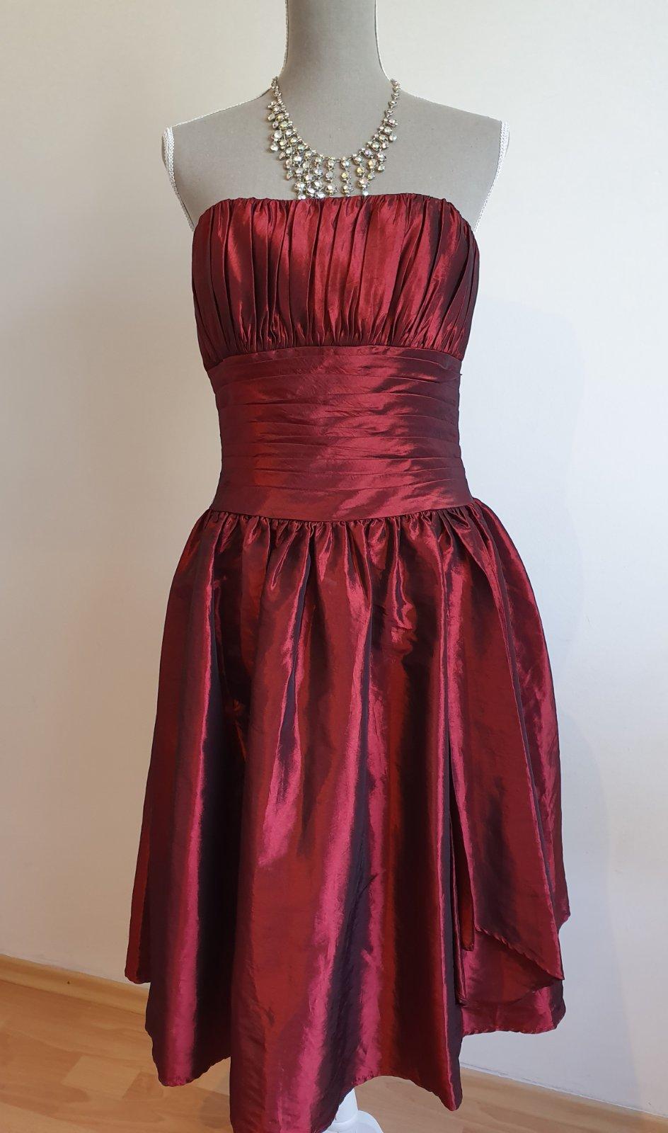 bordové spoločenské šaty - Obrázok č. 1