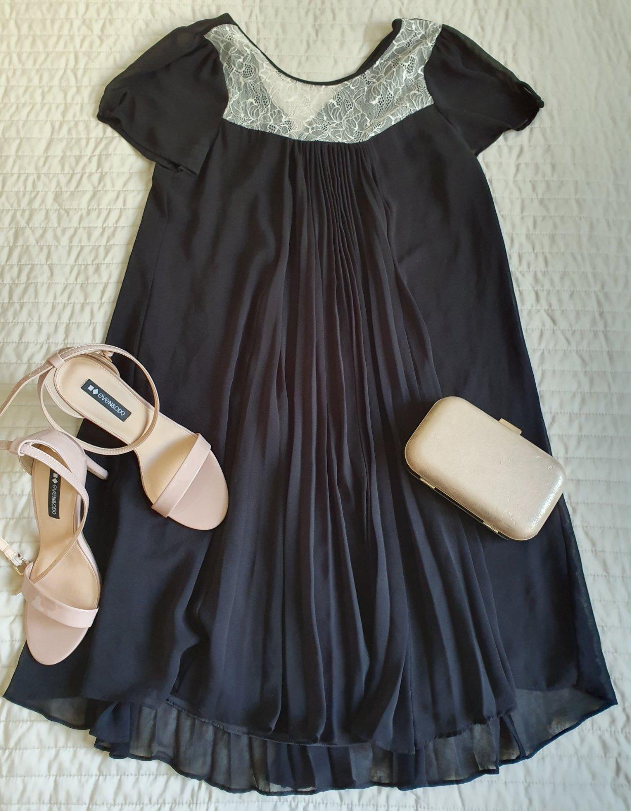 lahulinké skladané šaty - Obrázok č. 1