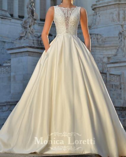 Svadobné šaty Monica Loretti - 36/38 - Obrázok č. 2