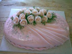Naše představa svatební dortu - tento je vítězný :-) (Košvicova cukrárna, Slavkov u Brna)
