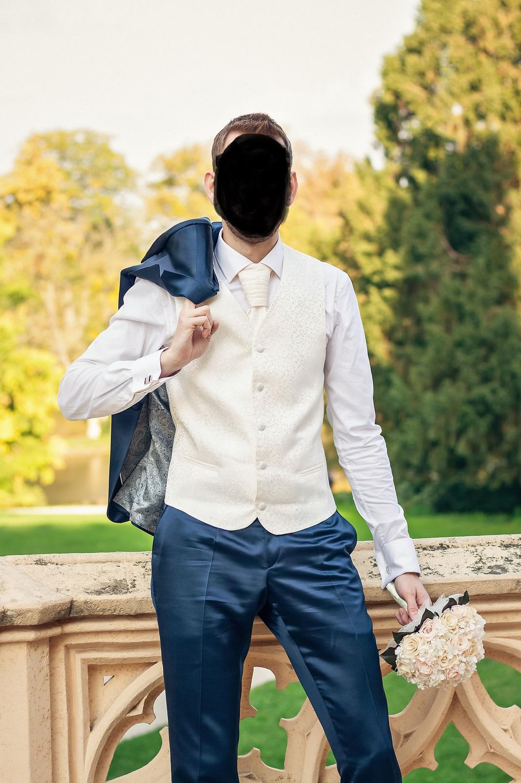 Pánsky svadobný oblek s košeľou - Obrázok č. 1