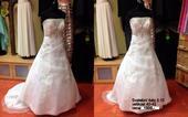 Výprodej svateb.šatů bílé, výšivka č.10- vel.42,44, 40
