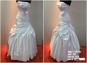 Výprodej svatebních šatů  bílé Yveta, vel.38, 38