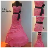 Plesové šaty č. 34 (vel.36-38), 36