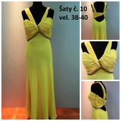 Výprodejové plesové šaty č. 10 (vel.40-42), 40