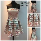 Výprodejové plesové šaty č. 11 (vel.36), 36