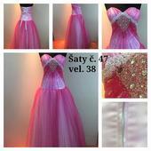 Výprodejové plesové šaty č. 47 (Vel. 38), 38