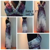 Výprodejové plesové šaty č. 17 (Vel. 38), 38