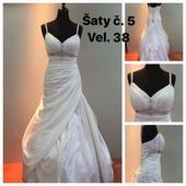Svatební šaty klasického střihu, 38