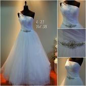 Svatební šaty č.21, sněhově bílé, 38