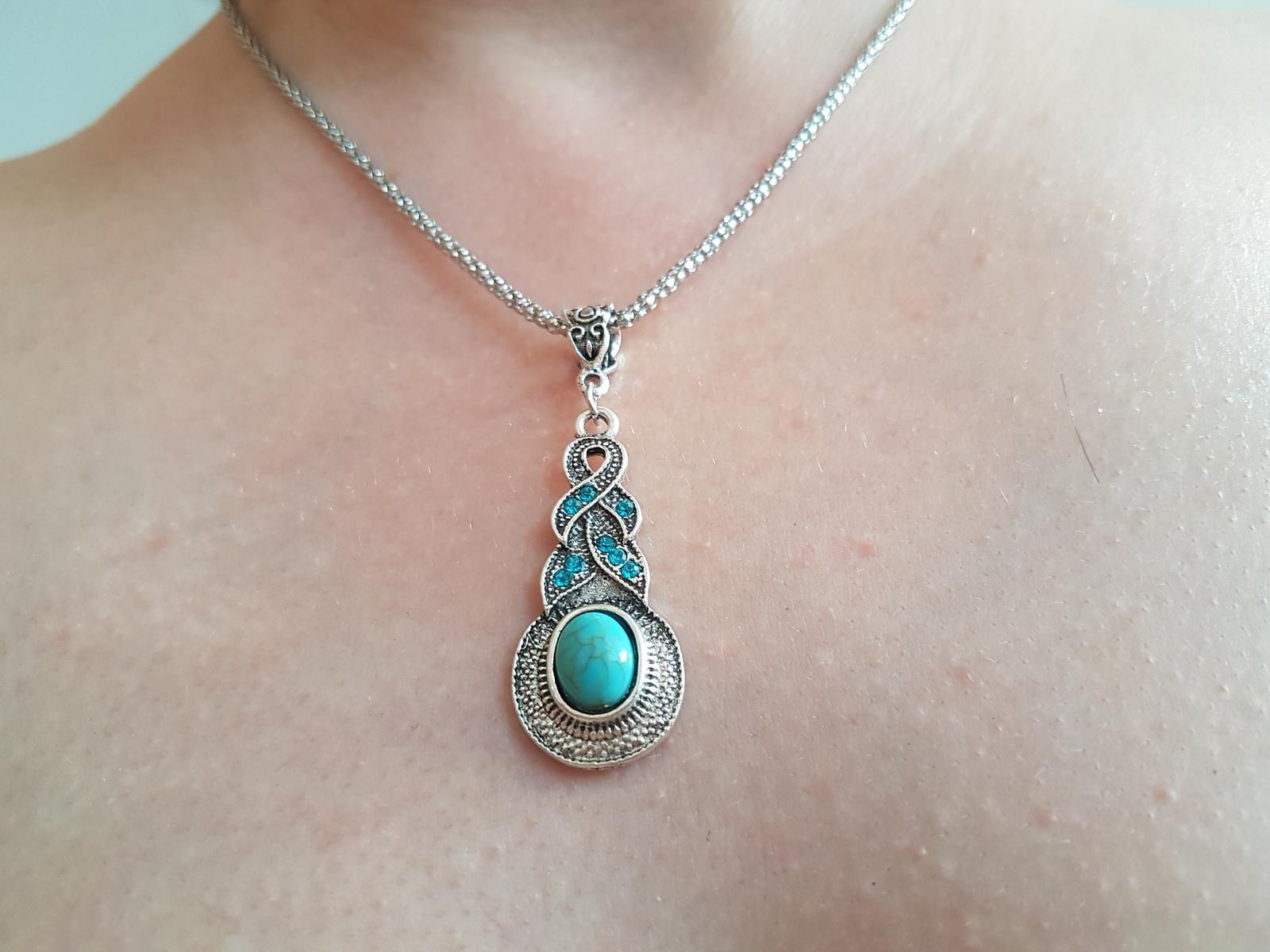 náhrdelník s náušnicami - Obrázok č. 2