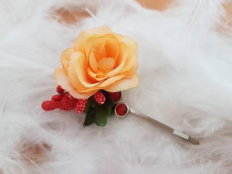 Sponka do vlasov pevná  s kvetom - Obrázok č. 1