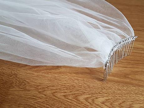 Ivory/Prírodná biela svadobný závoj - Obrázok č. 1