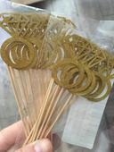 Zapichy do jidla - zlate prstynky,