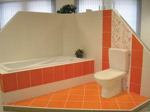 oranžová s hnědou bude na záchodě