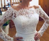 Romantické čipkované svadobné šaty, 34