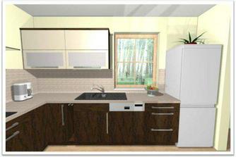 Naše kuchyň - wenge + slonová kost