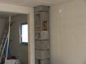 Třetí den stavby - stavíme si komín