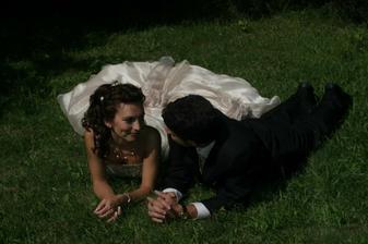 fotky v trávě...