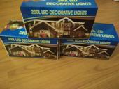 3x 20m ozdobných světýlek - bílé světlo,