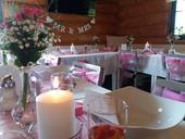 Svatební dekorace pro 20-25 osob (růžová+bílá),