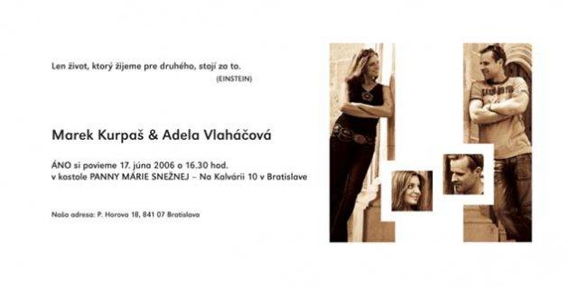 Prípravy na 17.6.2006 - Marek a Adela - vysnívane a reálne - oznamko 2 strana