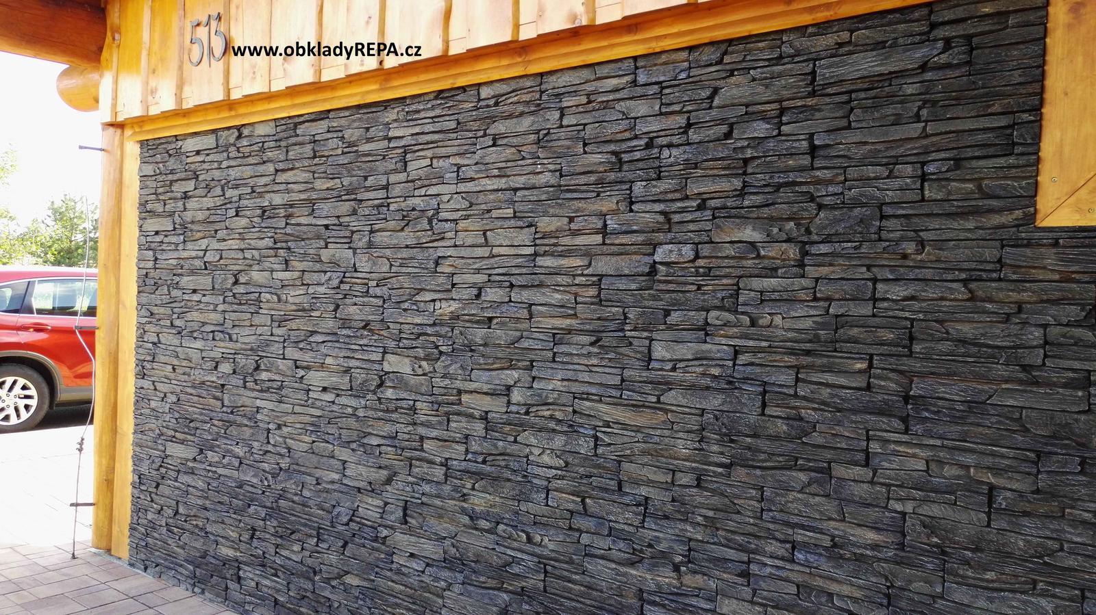 obkladyrepa - Tento betonový obklad patří k těm nejoblíbenějším. Zde exteriérová realizace.