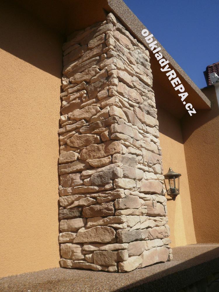 obkladyrepa - Decentní obklad fasády domu kamenným obkladem.